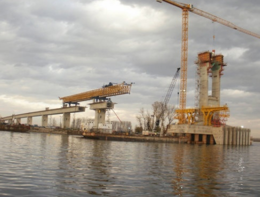 HALF OF 2ND BULGARIA-ROMANIA DANUBE BRIDGE COMPLETED