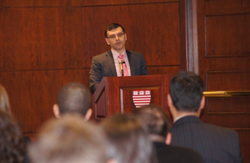 BULGARIAN FINMIN STRESSES FISCAL DISCIPLINE AT HARVARD, PROMOTES OWN BRAINCHILD