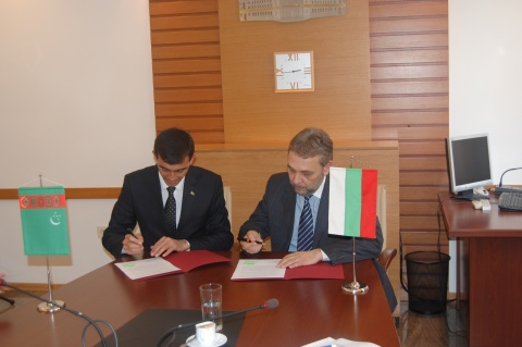 BULGARIA INKS AGRICULTURE ACCORD WITH TURKMENISTAN