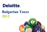 A Snapshot of Bulgarian taxes - Comprehensive report by Deloitte