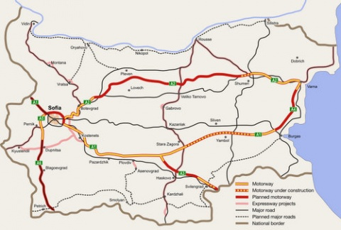 BULGARIA TO BUILD 'HIGH-SPEED ROADS' IN ADDITION TO HIGHWAYS